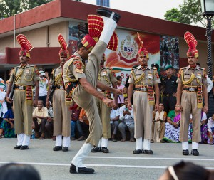 Pictures from the Wagah Border between India and Pakistan