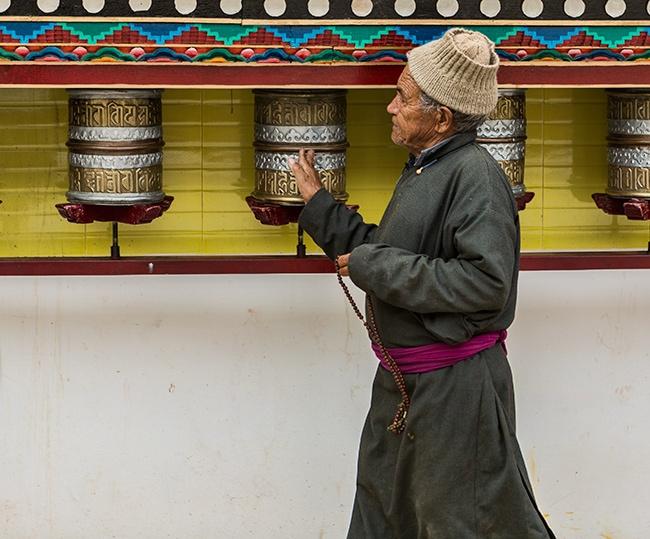 Spinning 150 Million Mantras at the Chokhang Vihara Gompa