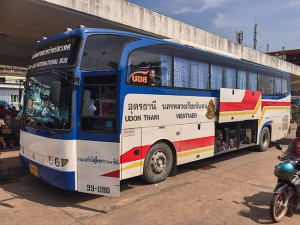 The cheapest way to get from Vientiane to Udon Thani and Bangkok