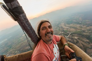 With the Hot Air Balloon over Pai