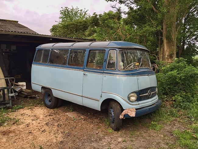 A small Mercedes-Benz Bus