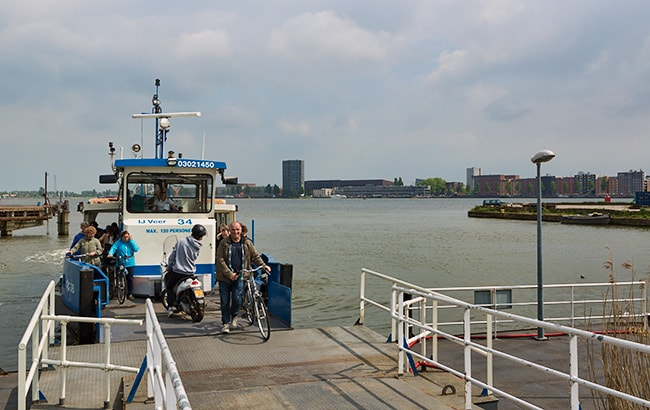Ferry in Amsterdam