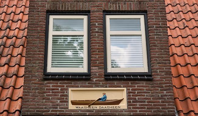 Detail of a house on the Nieuwendammerdijk