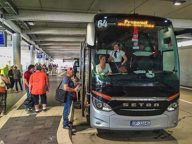 Bus from Stuttgart to Siradz