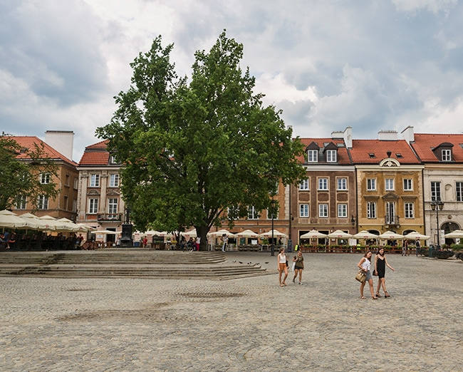 At the Square next to St. Kazimierz Church