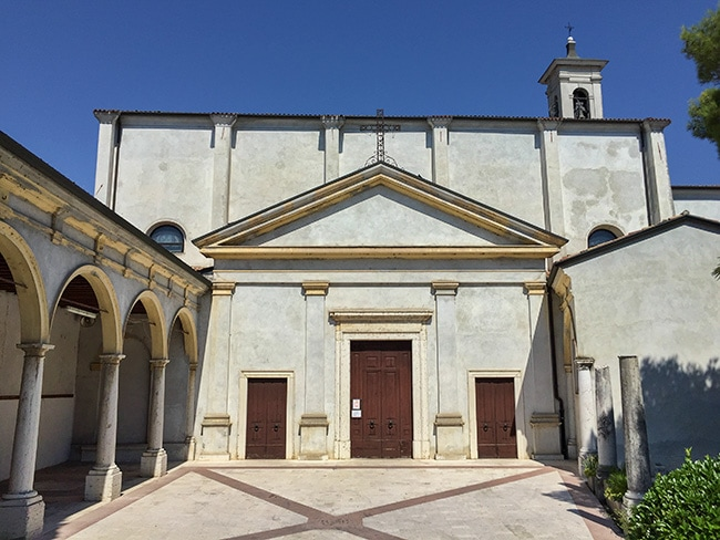 Church next to the parking
