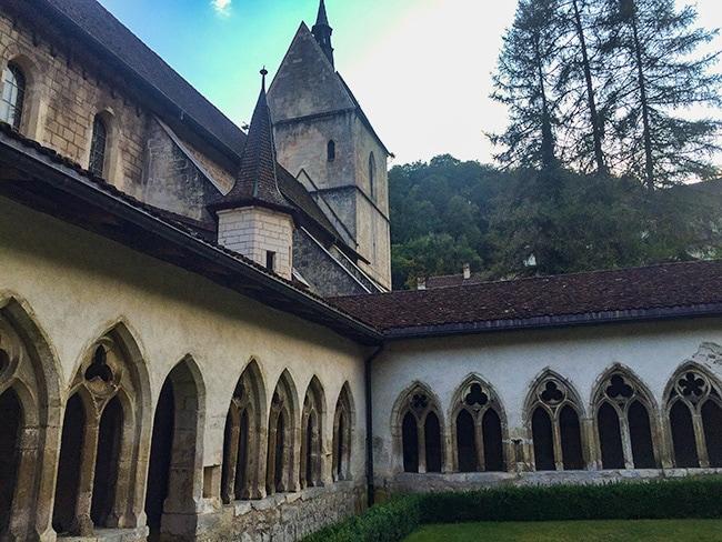 Inside the cloister in Saint Ursanne