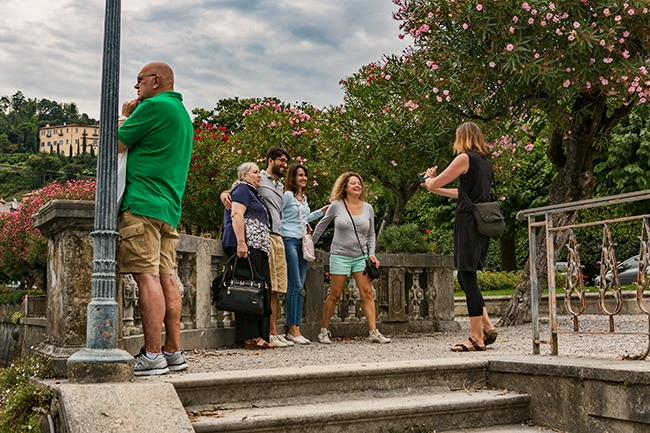 Tourist took a picture of a tourist taking a picture of tourists