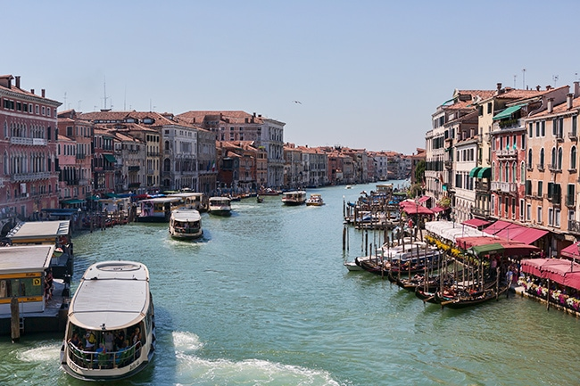 View from the Ponte di Rialto