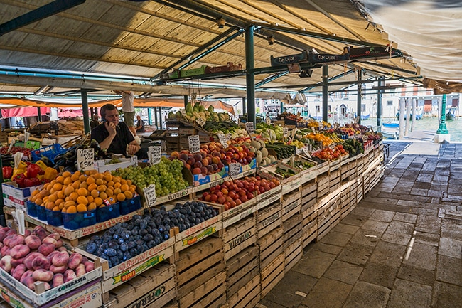 Fruit stand at the Rialto Market