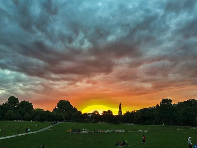Nice sky over Berlin