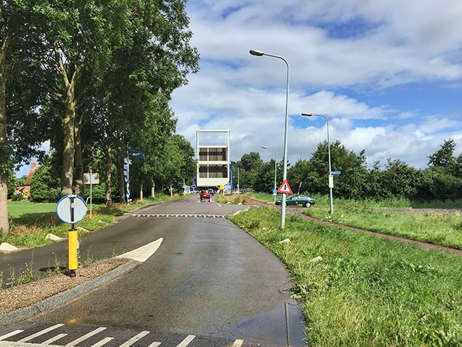 Water and bridges everywhere round Groningen