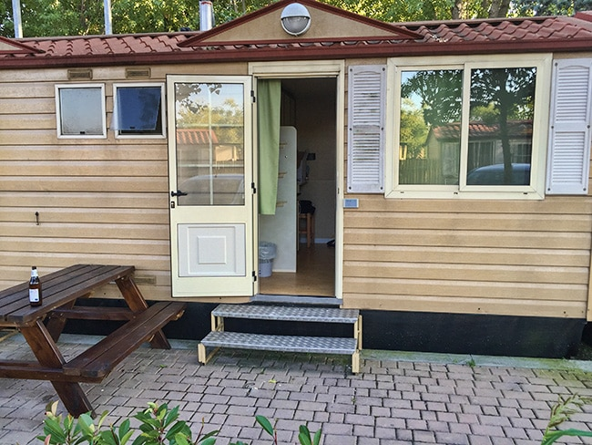 Our room at the Camping Village Jolly from the car