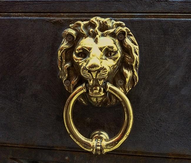 Door knocker in Venice, Italy