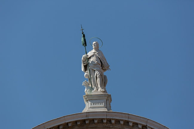 San Rocco on top of the church