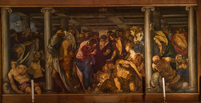 Christ Healing the Paralytic painted by Tintoretto in 1559