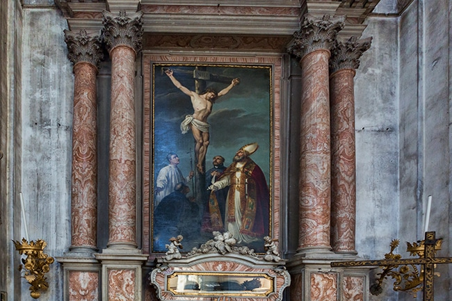 Crucifixion with Saints by Sebastiano Santi