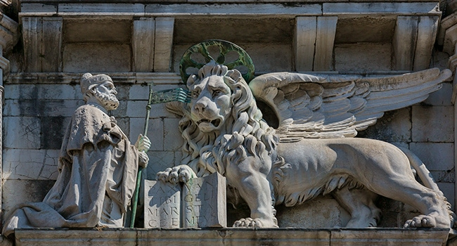 Detail from the Doge's Palace or Palazzo Ducale
