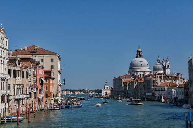 Looking down the Grand Canal to the Basilica di Santa Maria della Salute