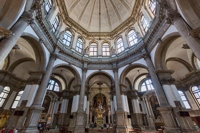 Inside the Basilica di Santa Maria della Salute