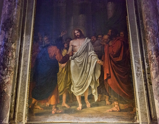 Christ between the Apostles, Sebastiano Santi, 1828