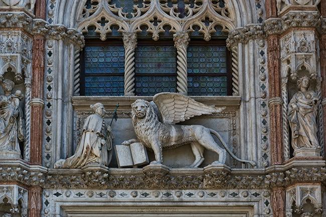 Detail of the Porta della Carta