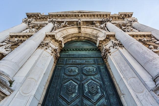 Main entrance of the Basilica di Santa Maria della Salute