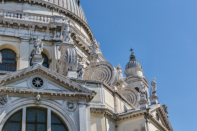Detail from the Over the entrance of Santa Maria della Salute