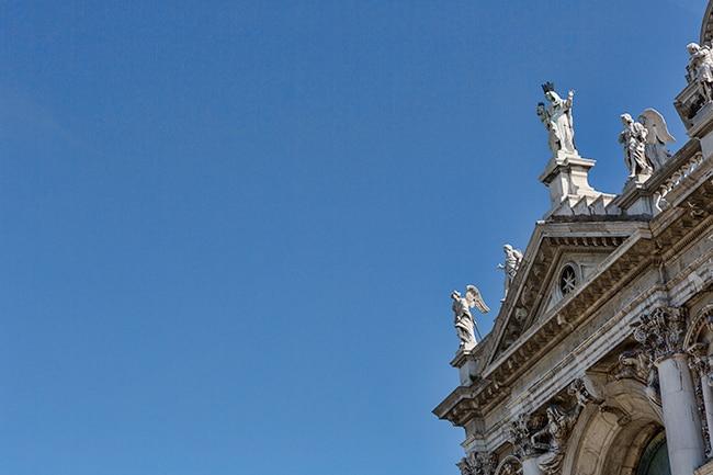 Over the entrance of Santa Maria della Salute
