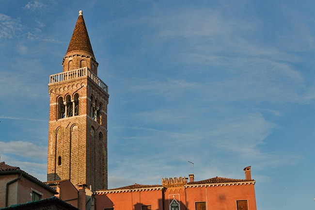 The bell tower of the Chiesa di San Polo