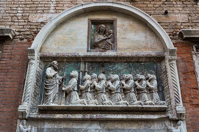 Detail of the façade of the Scuola Grande