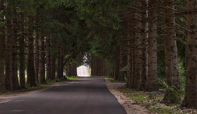 A mile before Ostarije