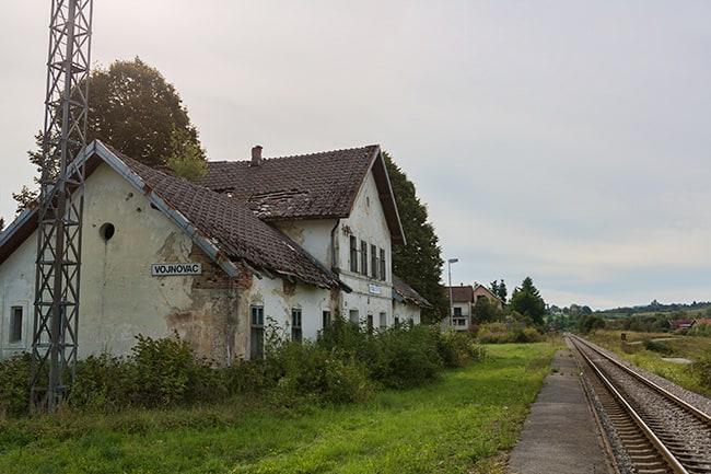 Old train station in Vojnovac