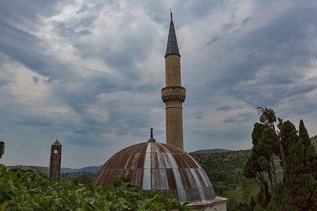 The Šišman Ibrahim-pašina džamija or Hajji Alija mosque and Bell tower