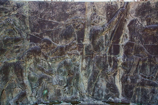 Details from the War Memorial near Pijavicino - part3