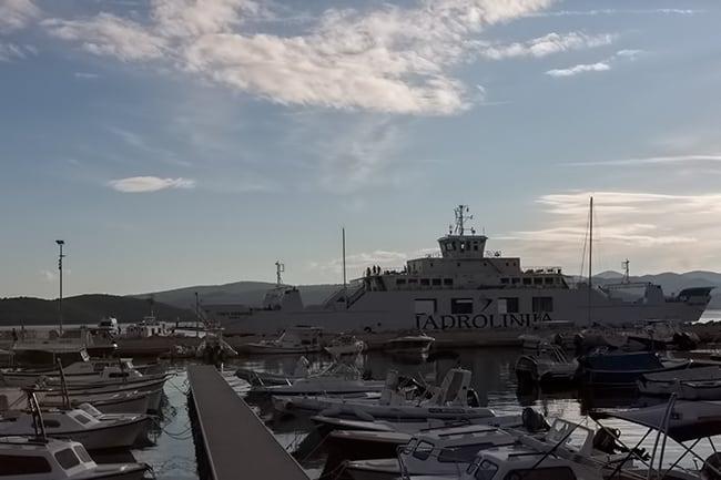 Ferry to Korčula in Orebić