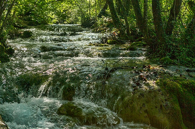 Stream at the Plitvice Lakes