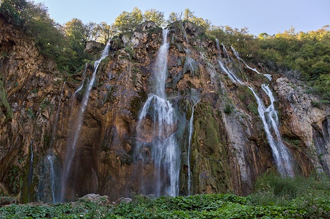 Waterfall at the Plitvice Lakes