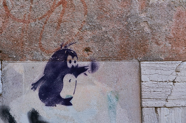 Graffiti at the Calle Avvocati
