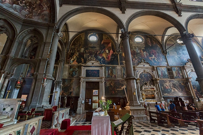 Inside the Chiesa di San Zaccaria
