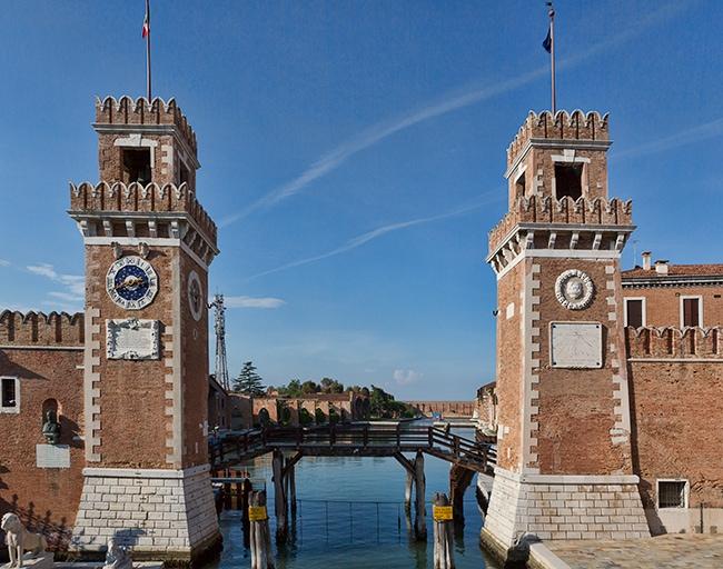 Entrance of the Arsenale die Venezia