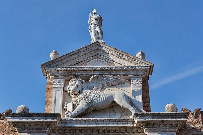 The lion at the Arsenale die Venezia