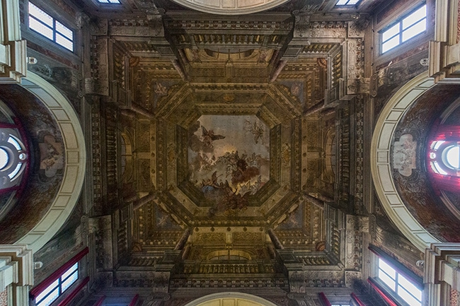 The central ceiling fresco from Domenico Bruni