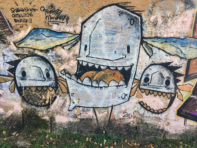 Graffiti at the river