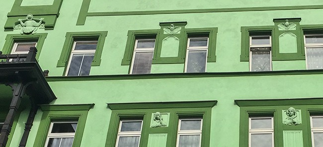 Detail of the faccade