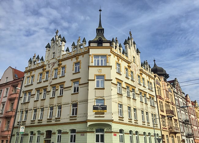 At the corner of Halkova and Kopernikova