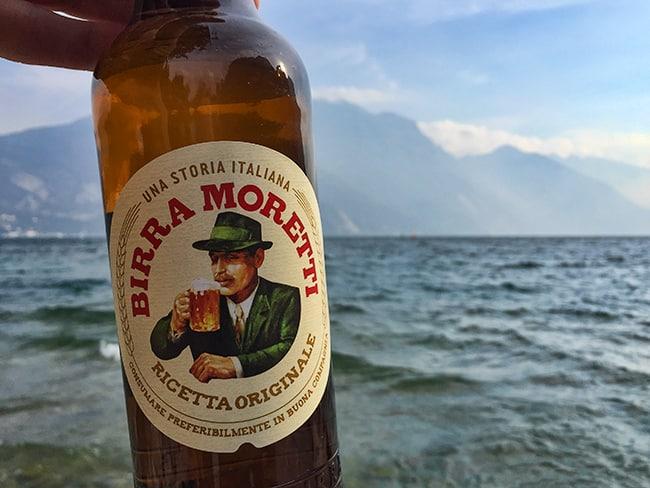 Birra Moretti at the lake