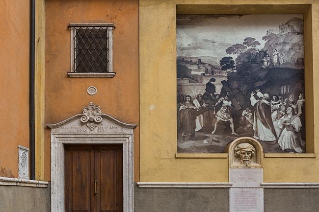 At the Via Guiseppe Mazzini
