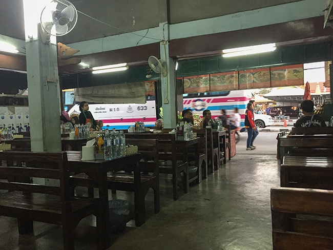 Every time I leave from the bus station in CNX I have dinner here
