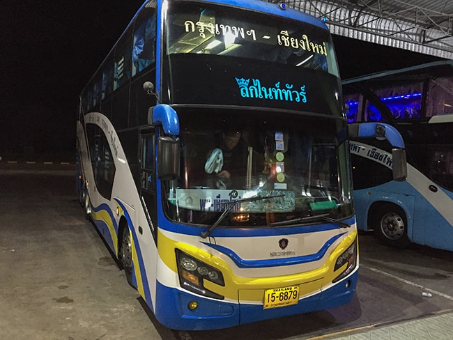 The bus to Chiang Mai